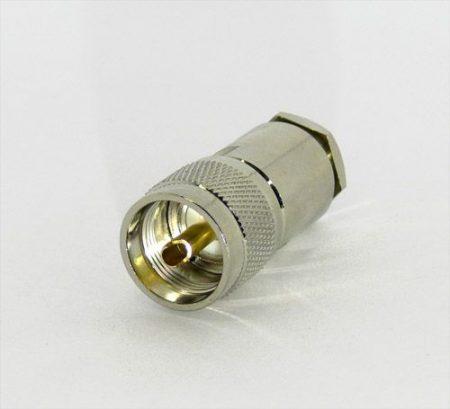 UHF dugó H-1000 koax kábelhez, szerelhető