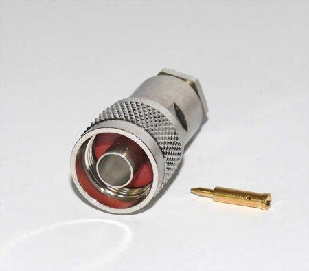 N dugó RG-58 koax kábelhez, szerelhető