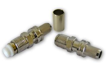 FME aljzat H155/RF240/7808A koax kábelhez, crimpelhető