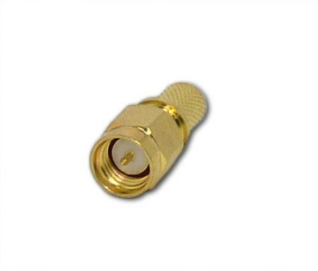 SMA dugó H155/RS240 koax kábelhez, crimpelhető