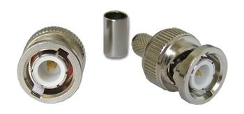 BNC dugó H155/RF240/7808A koax kábelhez, crimpelhető