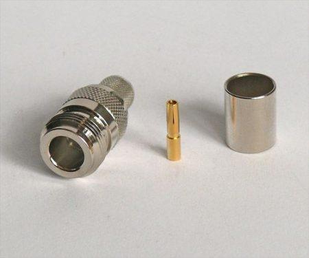 N aljzat crimp/crimp H1000/RF400/7810A/7810A koax kábelhez