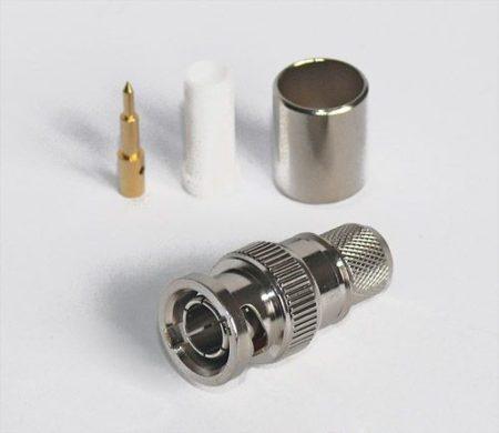 BNC dugó crimp/crimp H-1000 koax kábelhez