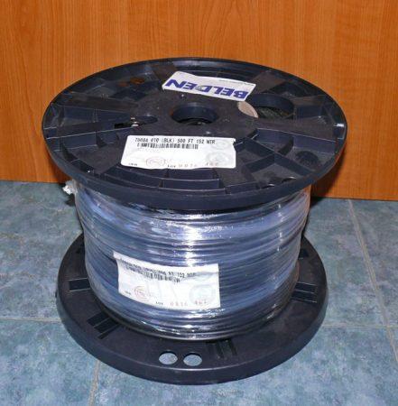 Belden 7808A (RF240, H155) koax kábel (152m-es dob, nem vágható)