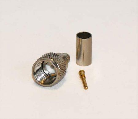 mini UHF dugó RG-58 koax kábelhez, crimpelhető